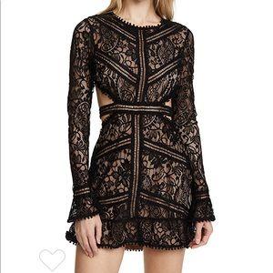 For Love & Lemons Black Lace Dress